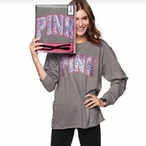Victoria's Secret Pink Bling Top Leggings Gift Set